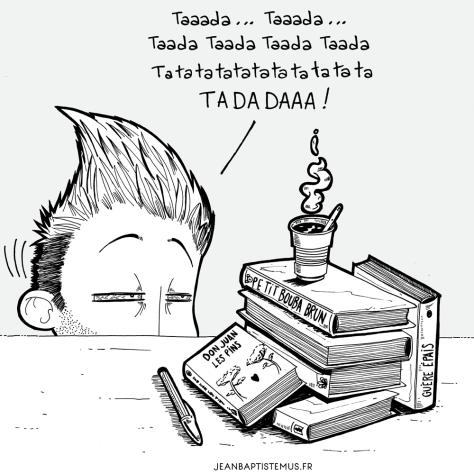 libraire et fier de lettre les dents du libraire