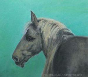 Tête de cheval aux Panpastels
